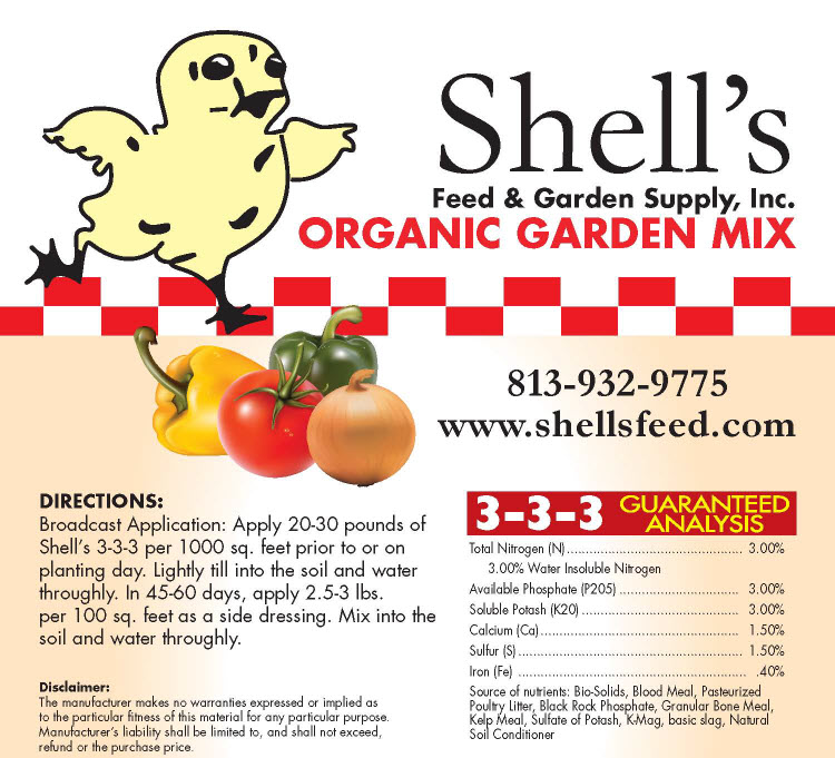 shells organic fertilizer 3 3 3 20lb bag - Organic Garden Fertilizer