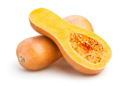 Uncooked, peeled and seeded butternut squash