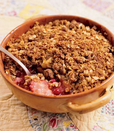 holiday recipes cranberry apple crumble