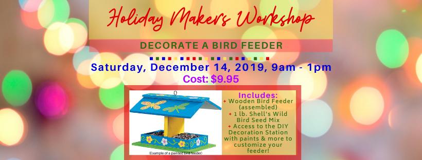 wild birds decorate bird feeder workshop holiday