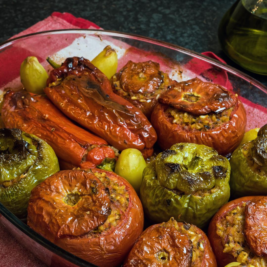 roasted stuffed vegetables